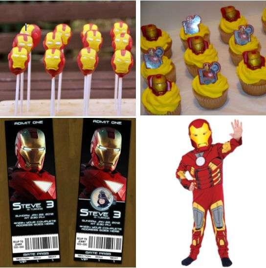 Sacolinha Lembrancinha Super-Heróis Homem de Ferro