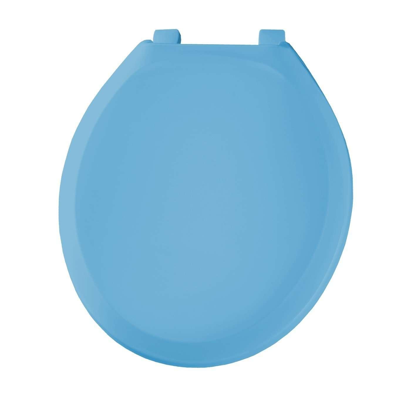 Church Bemis 200TC144 Plastic Round Toilet Seat New Orleans Blue EBay