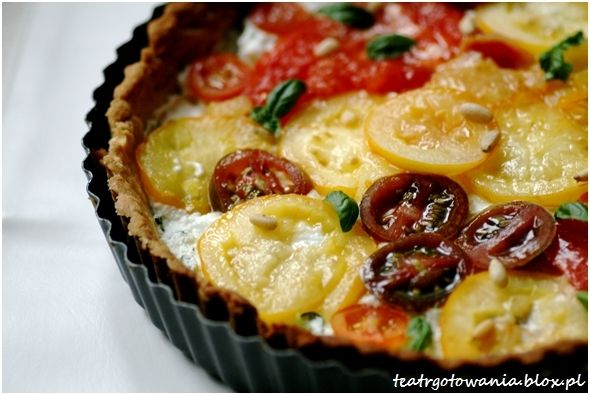 amore pomidore tarta pomidor bazylia ser kozi
