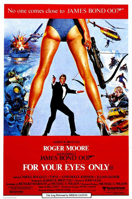 James Bond 007 For Your Eyes Only Poster