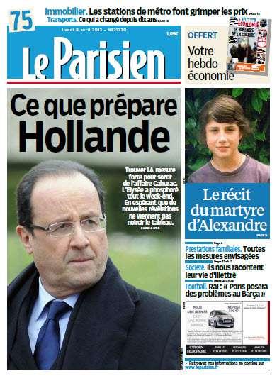 Le Parisien Lundi 08 Avril 2013
