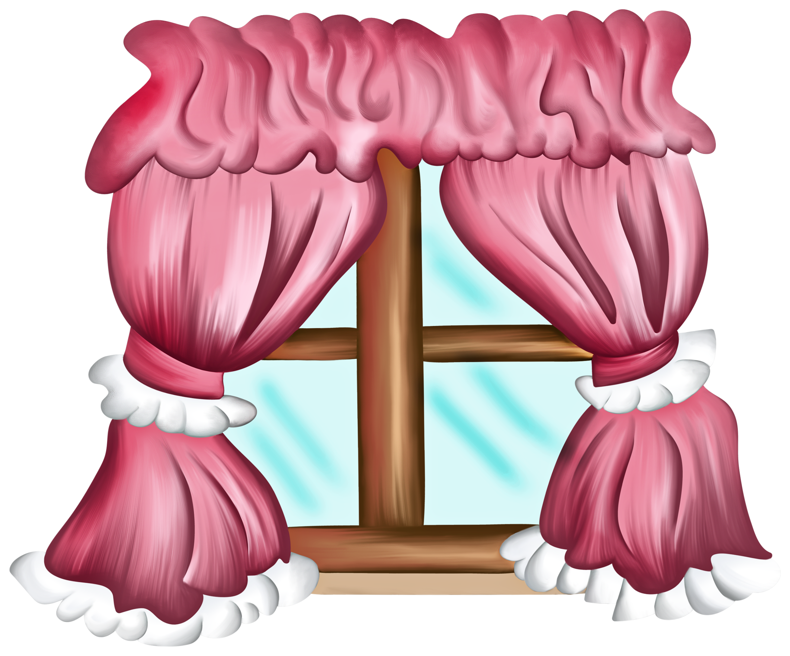Im genes infantiles ventana con cortinas rosas - Dibujos para cortinas ...