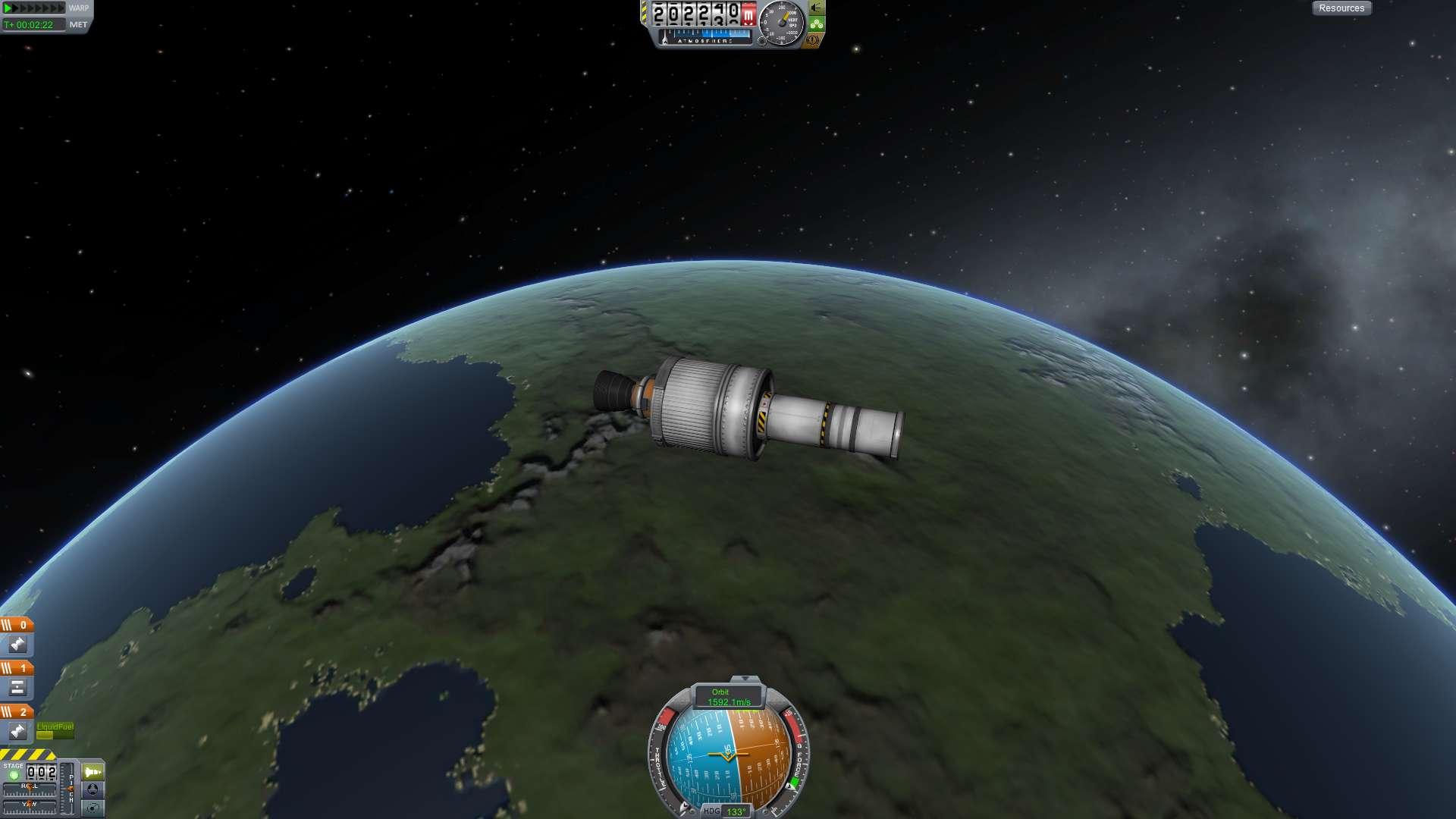 My first rocket into space - KSP Fan Works - Kerbal Space ...